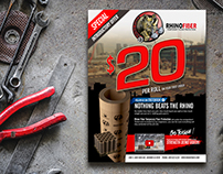 Rhino Fiber Promo & Featured Design Flyers