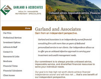 Garland and Associates Website Redesign