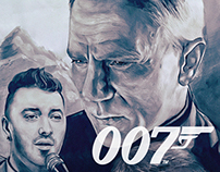 James Bond Spectre & Sam Smith Promotion Poster