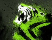 NVIDIA Tiger T-Shirt Design Entry