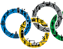Olympic Icons for food and shopping