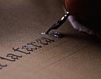 Práctica caligráfica