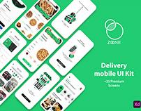 ZONE delivery App UI Kit (Dark mode included)