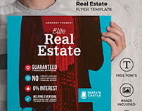 Freebie : PSD Real Estate Flyer Template