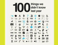 100 things you didn't know last year - iPad publication