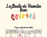 """Ilustraciones para """"La flauta de Hamelín tiene colores"""""""