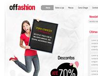 Offashion: Layout de site