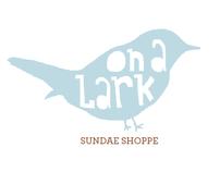 On a Lark sundae shop branding