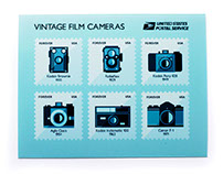 Film Camera Postage Stamps