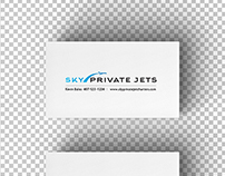 Sky Private Jets Logo Design