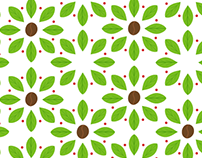 Coffee plant pattern