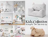 Kids Mockup Collection and 2 Free Mockups