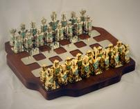 Trypillian Style Chess Set