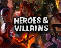 Heroes & Villains Minimalist Posters