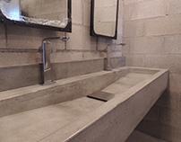 Lavamanos de concreto - IHOP Mexicali