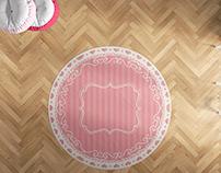 Oval halı tasarımı