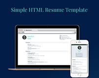 Simple HTML Resume Template