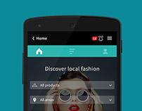 Zakoopi app UI/UX