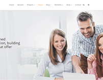 About Page - Construction WordPress Theme