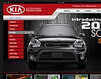 KIA Accessory Site for IPad