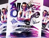 All Eyez On Me PSD Flyer Template (download .psd)