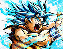 Son Goku SSJ Blue - FanArt SpeedPainting