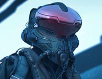Pilot helmet concept