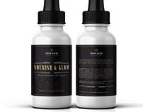 Skincare label design