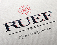 Logodesign for RUEF Kunstauktionen