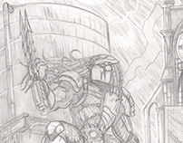 Batman vs Predator Sample Pages Pencils