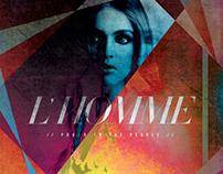 L'HOMME MAGAZINE feat. Lindsay Lohan & Hedi Slimane