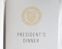 President's Dinner Reception 2012 program