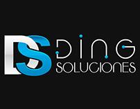 Ding Soluciones - #Web #Design #Logo