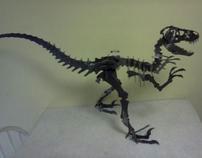 Alosaurus 3-D Dinosaur in steel