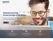 Scintel Tehnologies Logo & Web Template Design