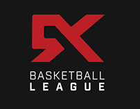 5X Basketball League Logo and Website