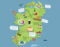 Touring map Ireland - Illustration & design