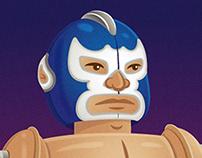 Blue Demon Tin Robot
