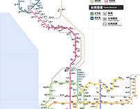 台南高雄屏東軌道路網 假想圖