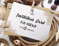 2 Free Invitation Card Mockups in PSD