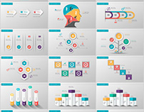 30+ three dimensional infographics PowerPoint template