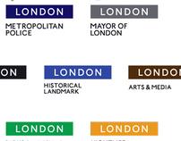 London brand identity
