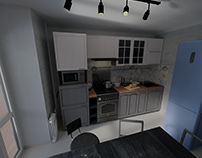 8 sq 1952 Kitchen Design with Ardesia D 662 RNS