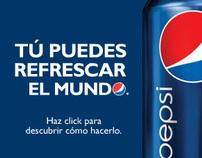 Pepsi . Lançamento da nova marca na América latina