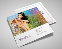 SKIN+AGAIN square trifold brochure