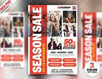 Season Fashion Sale Flyer PSD