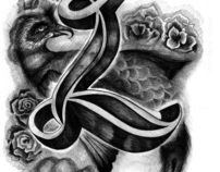 'L' - decorative character
