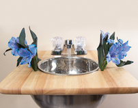 Sink Flower Vase