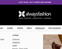 alwaysfashion e-commers web design