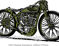 HARLEY DAVIDSON BOARD TRACK RACER motorcycle vector art